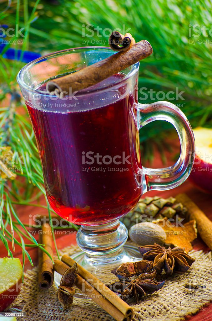 Spicy Christmas drink stock photo