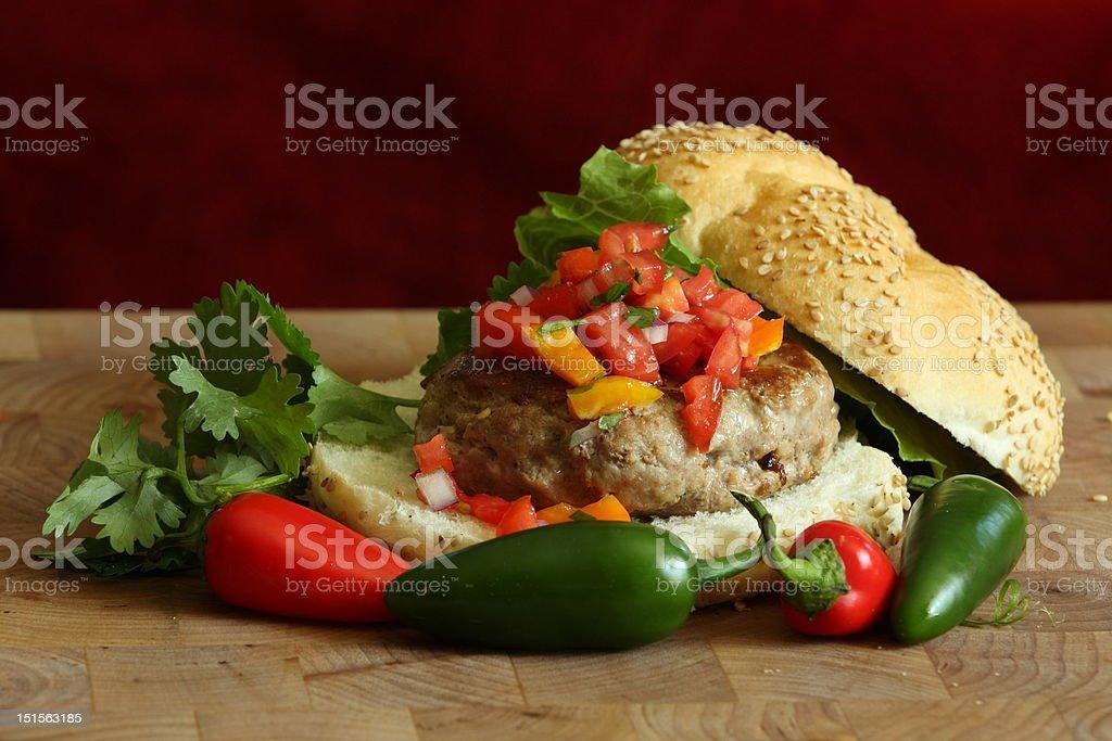 Spicy Confetti Burger stock photo