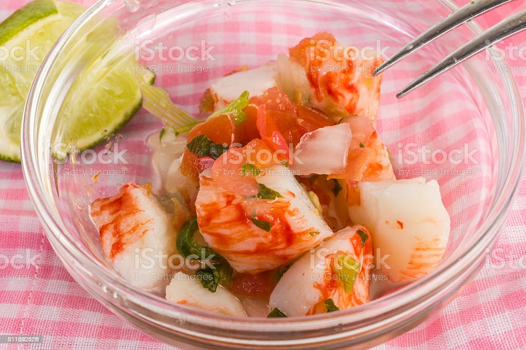 Spicy Crab Ceviche stock photo
