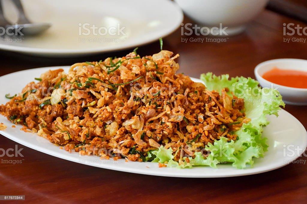 Spicy Fish Hot and Delicious Healthy food stock photo