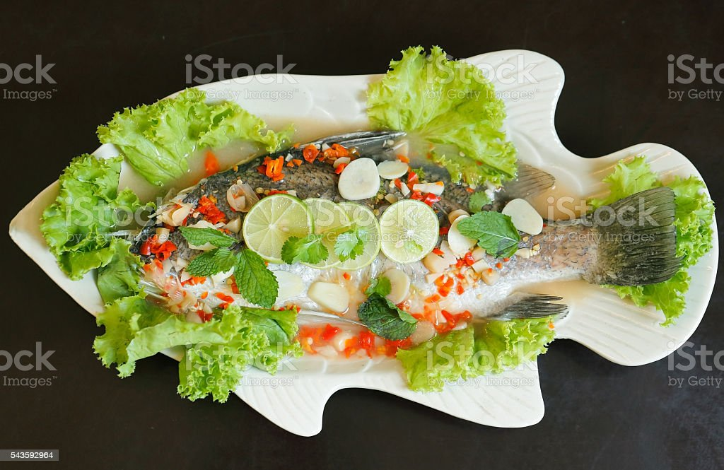 spicy fish stock photo
