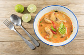 Spicy fish soup traditional food cuisine in Thailand