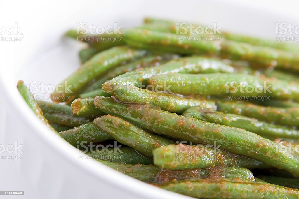 Spicy Green Beans royalty-free stock photo