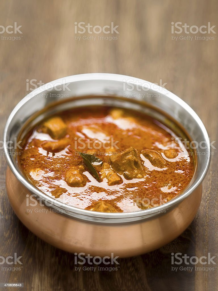 spicy indian mutton curry royalty-free stock photo