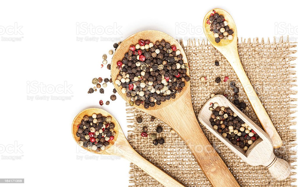 Spicy peppercorns royalty-free stock photo