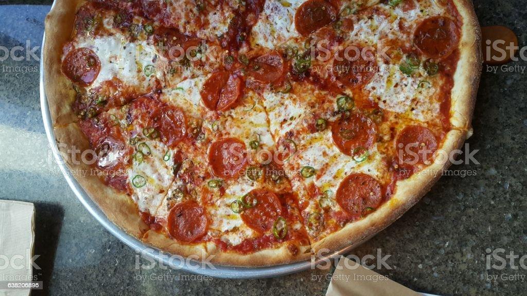 Spicy Pizza stock photo