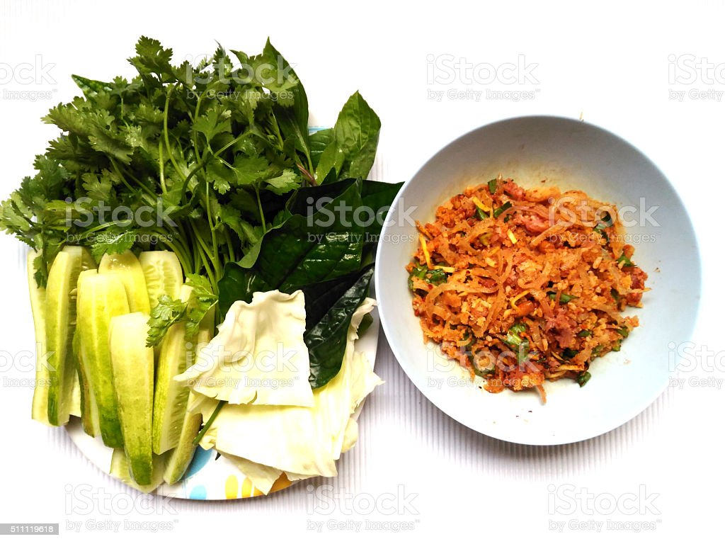 Spicy Pork from Thailand stock photo