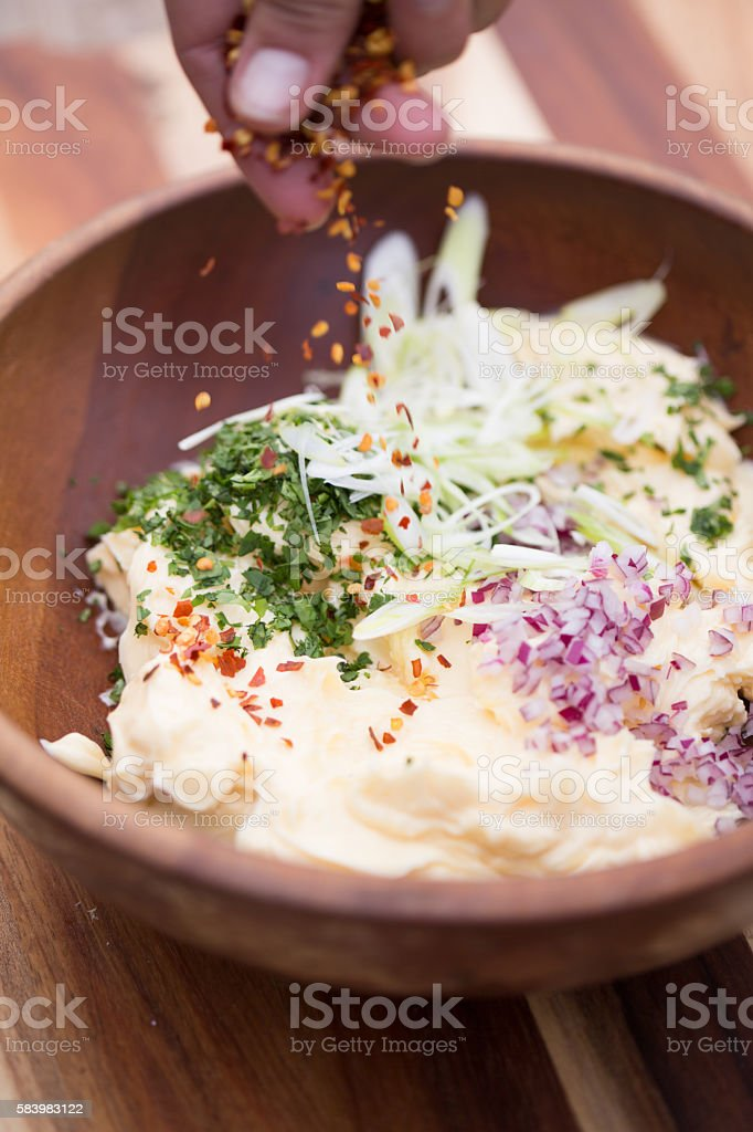 Spicy Potato Salad stock photo
