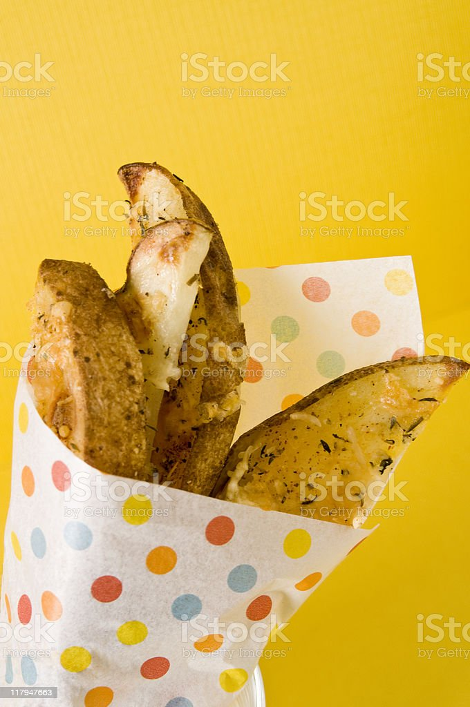 Spicy Potato Wedges royalty-free stock photo