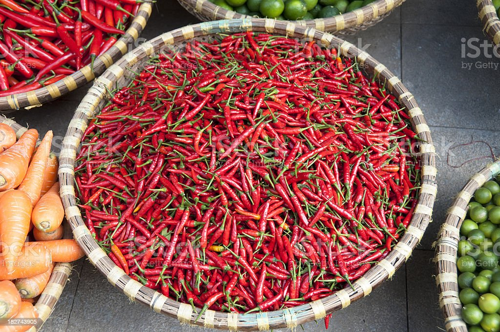 Spicy Red Chilli Peppers royalty-free stock photo