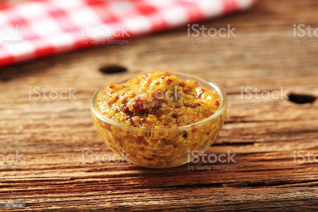 Spicy relish in a small glass dish royalty-free stock photo