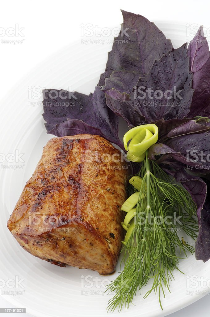 Spicy Roast Pork tenderloin royalty-free stock photo