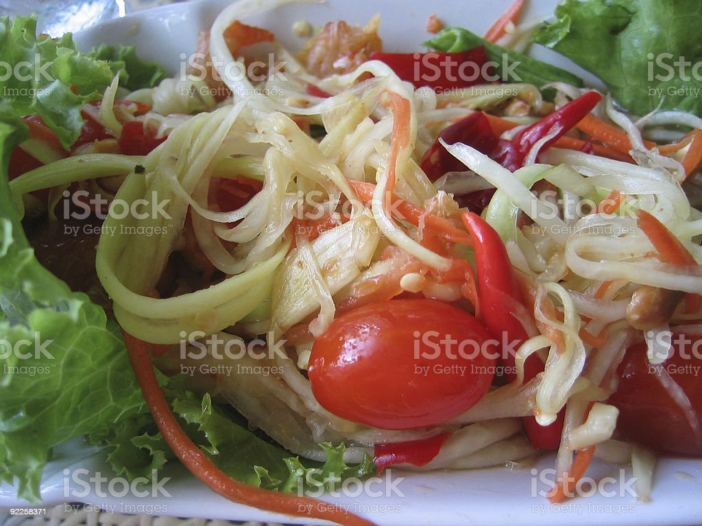 spicy salad royalty-free stock photo