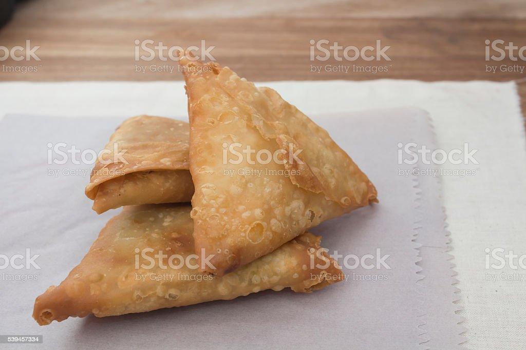 Spicy Samoosas stock photo