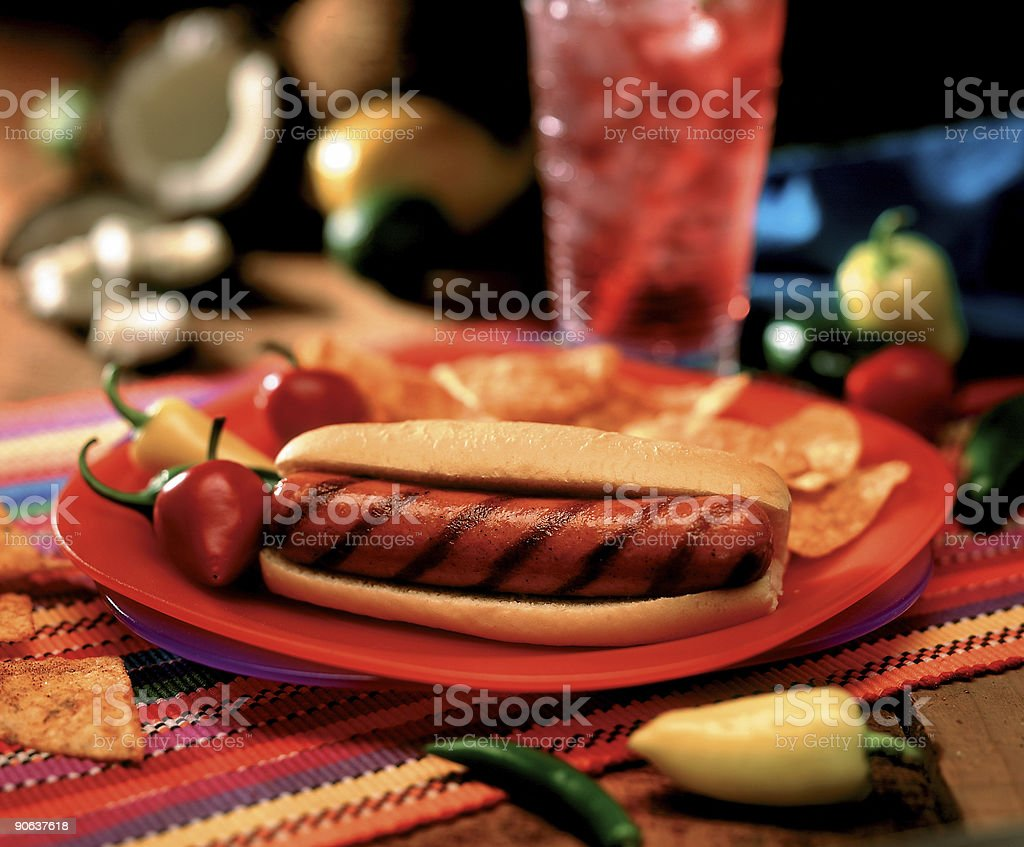 Spicy Sausage stock photo