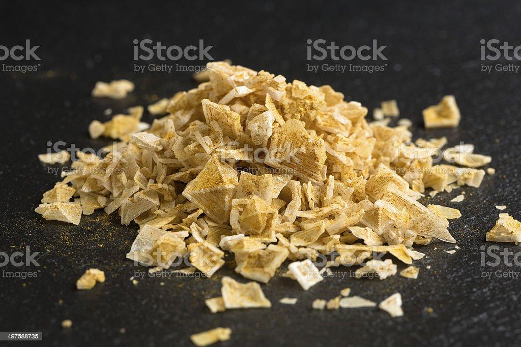 spicy sea salt flakes stock photo