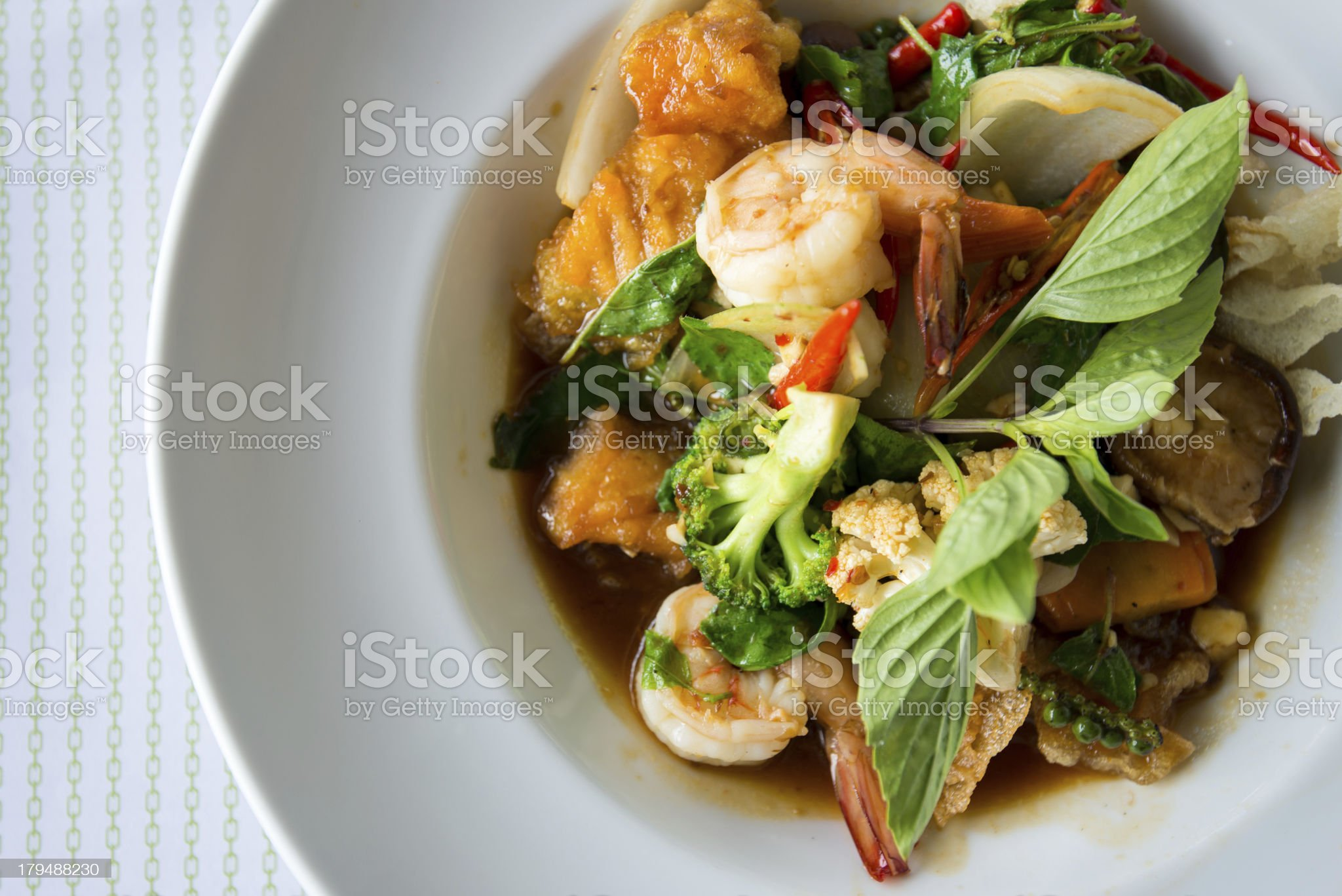 Spicy seafood royalty-free stock photo