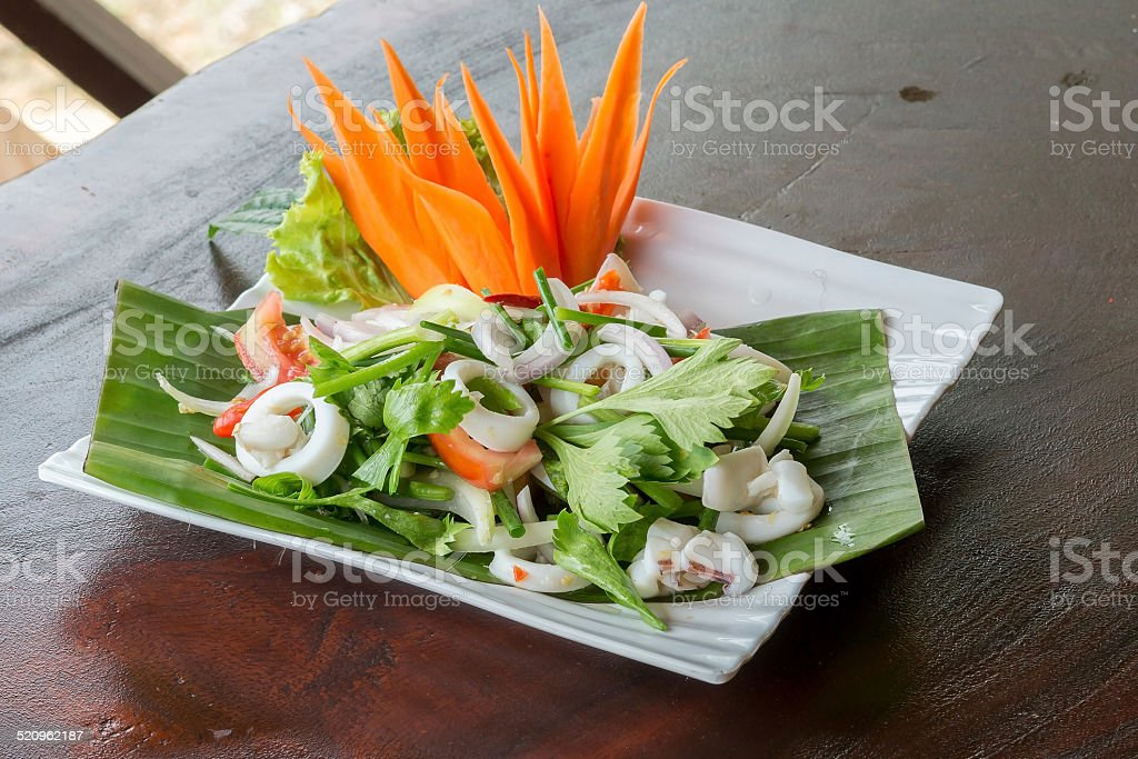 Spicy seafood stock photo