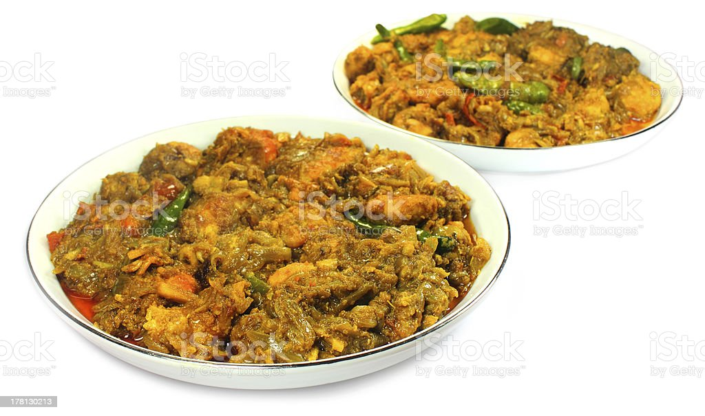 Spicy shrimp curry royalty-free stock photo