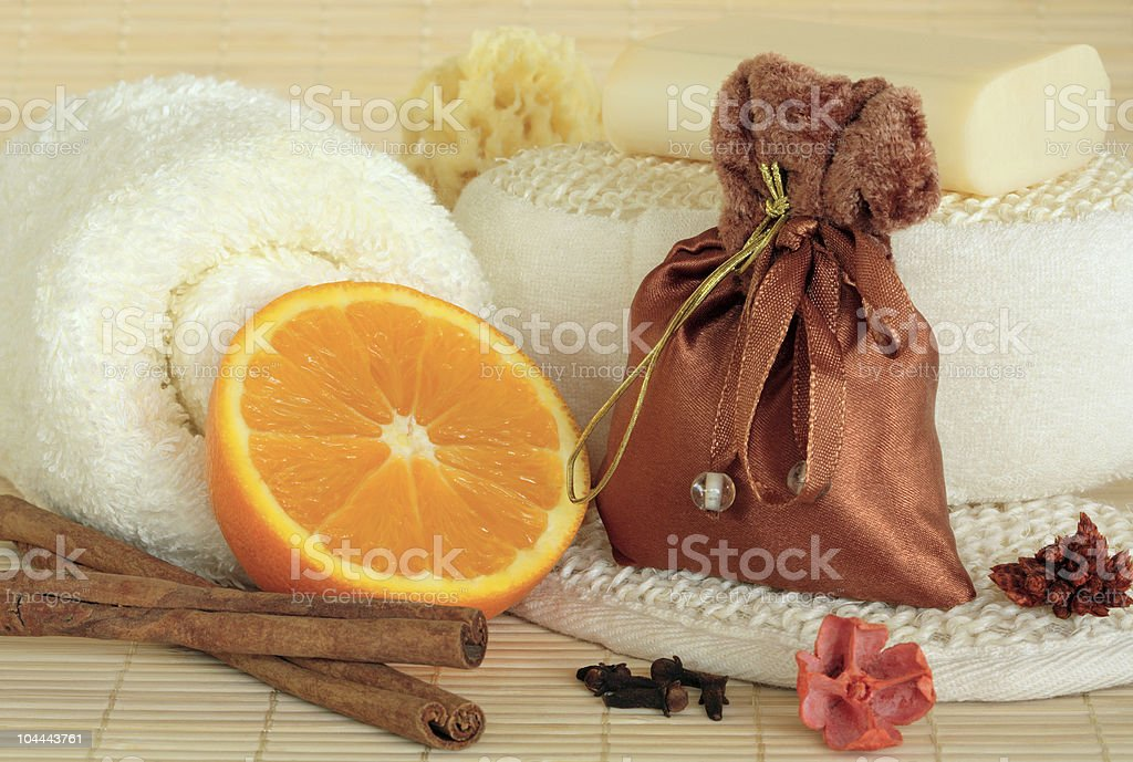 Spicy Spa Cleansing Products stock photo