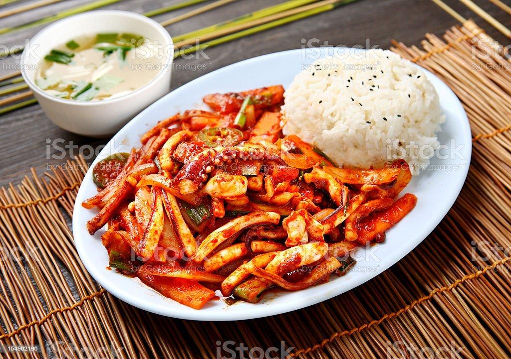 Spicy Squid stock photo