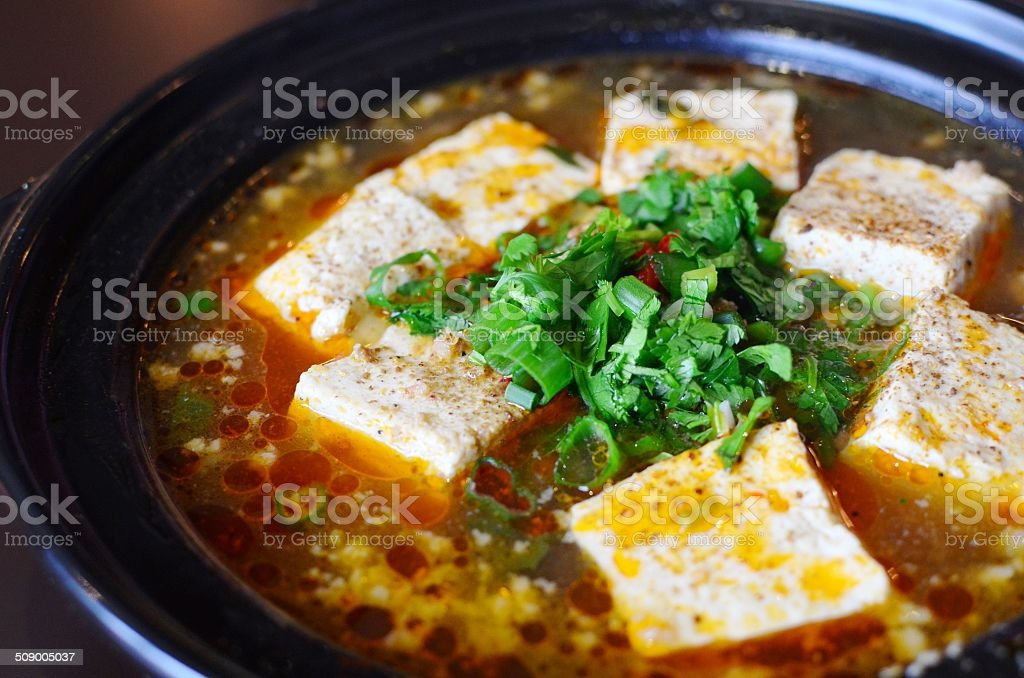 Spicy stinky tofu stock photo