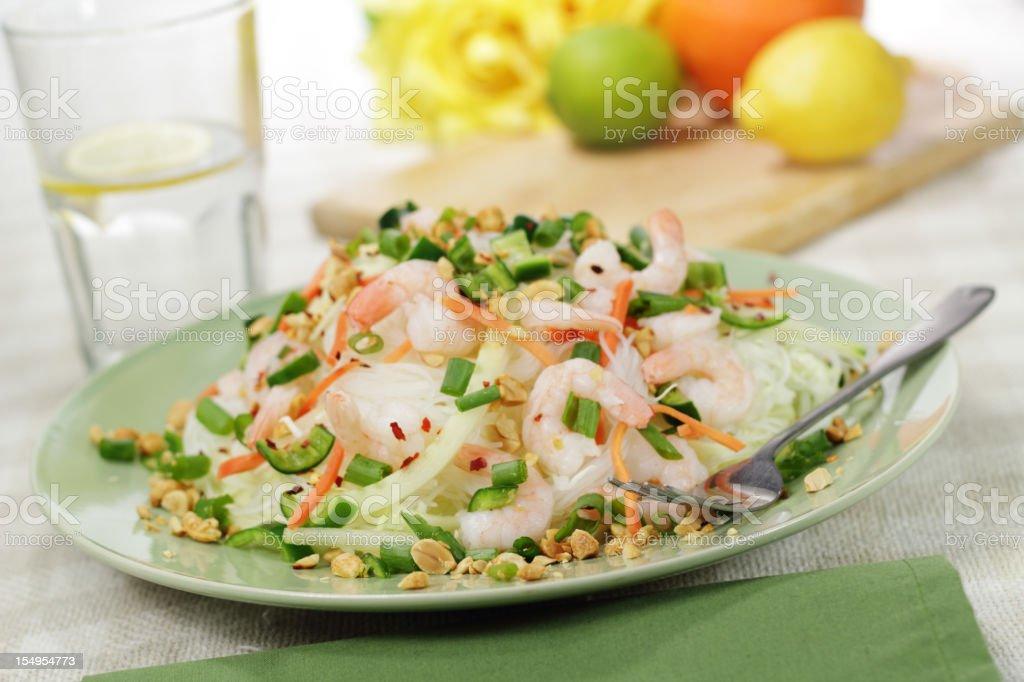 Spicy Thai style shrimp salad royalty-free stock photo