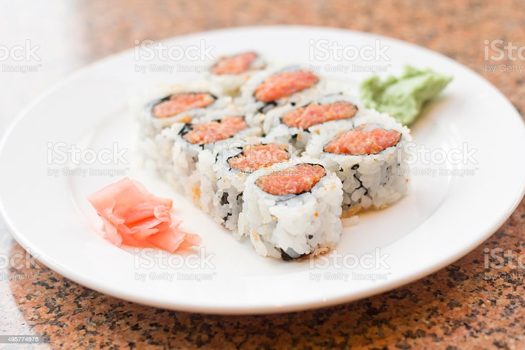 Spicy Tuna Roll stock photo