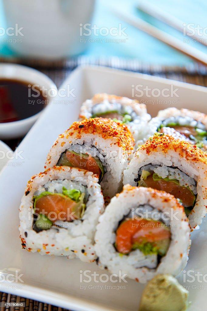 Spicy Tuna Roll Sushi stock photo