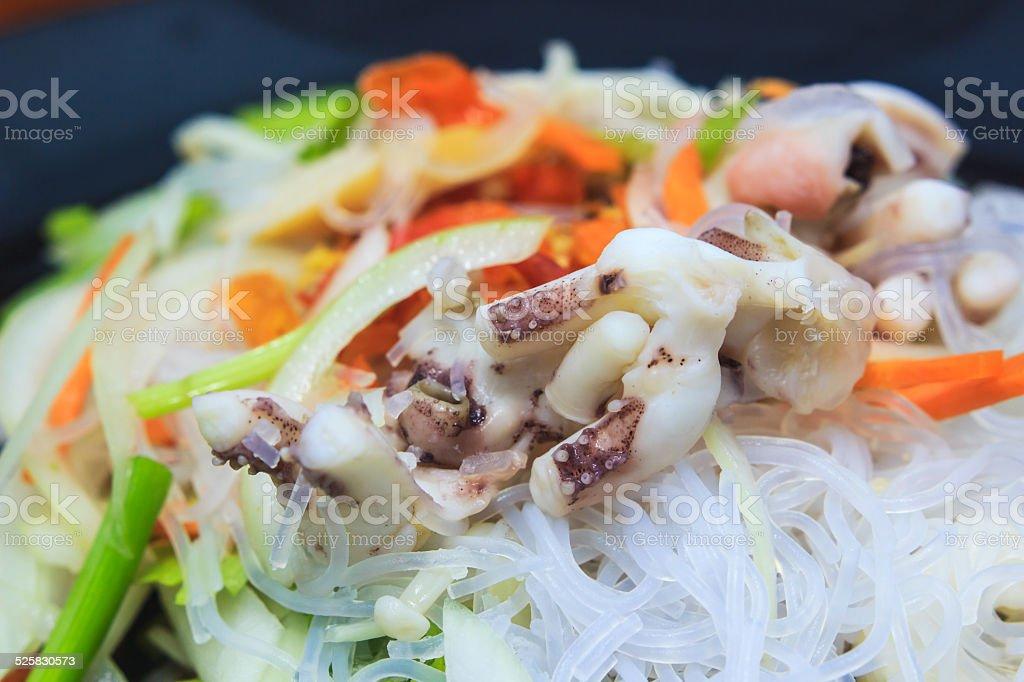 spicy vermicelli salad stock photo