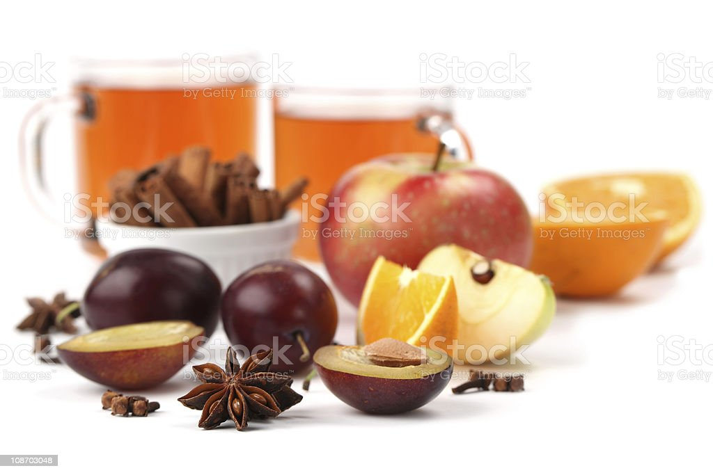 Spicy winter drink royalty-free stock photo
