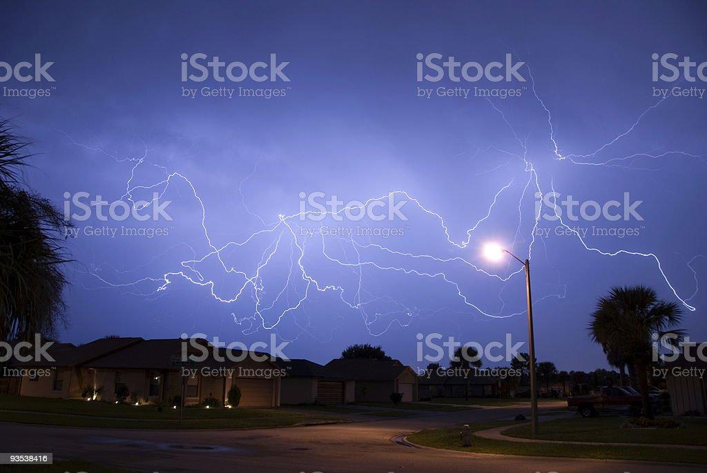 Spider Lightning royalty-free stock photo