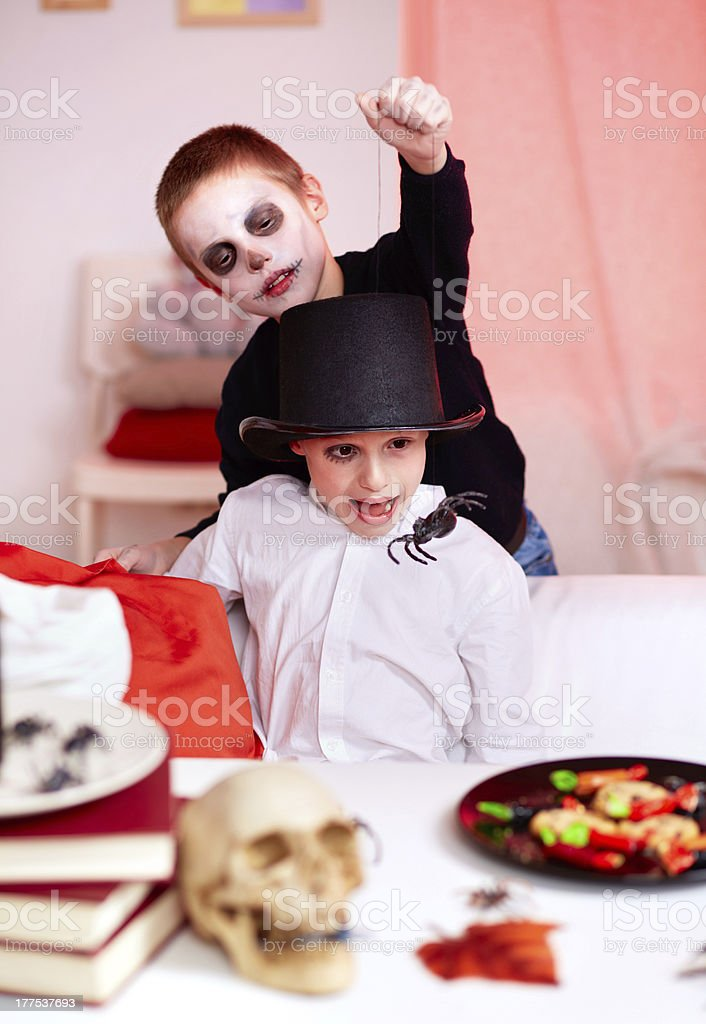 Spider trick royalty-free stock photo