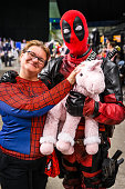 Spiderman and Deadpool cosplay