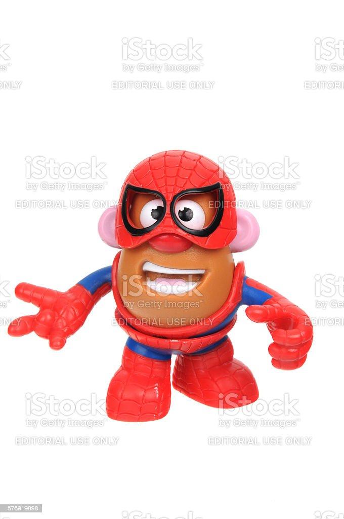 Spiderman Potato Head stock photo