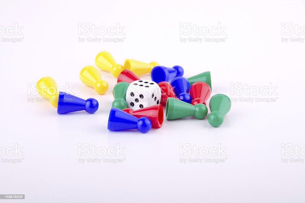 Spielfiguren stock photo