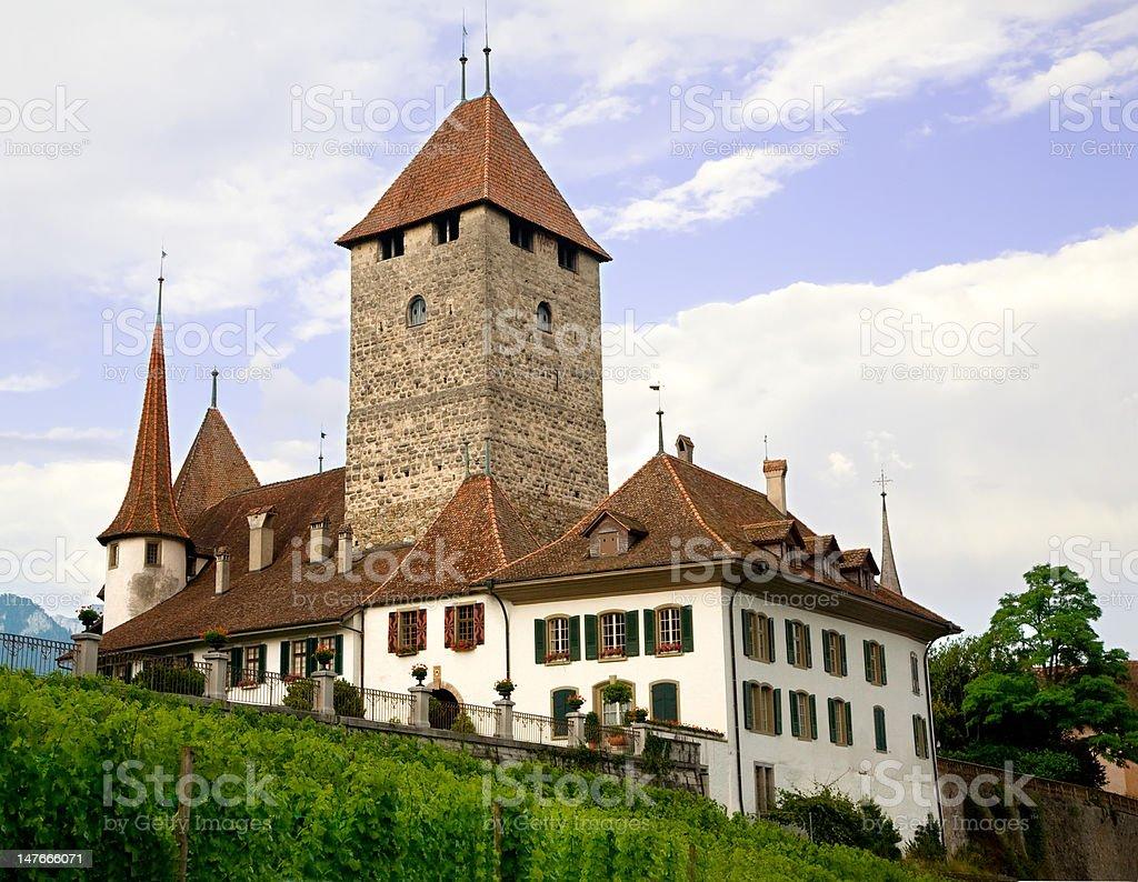 Spiez Castle, Bern Canton, Switzerland royalty-free stock photo
