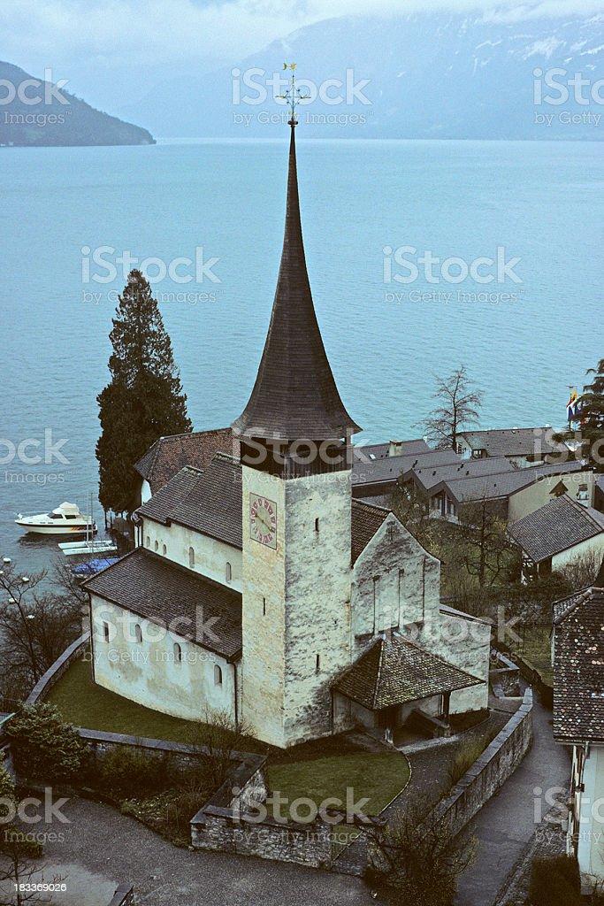 Spiez Castle Church royalty-free stock photo