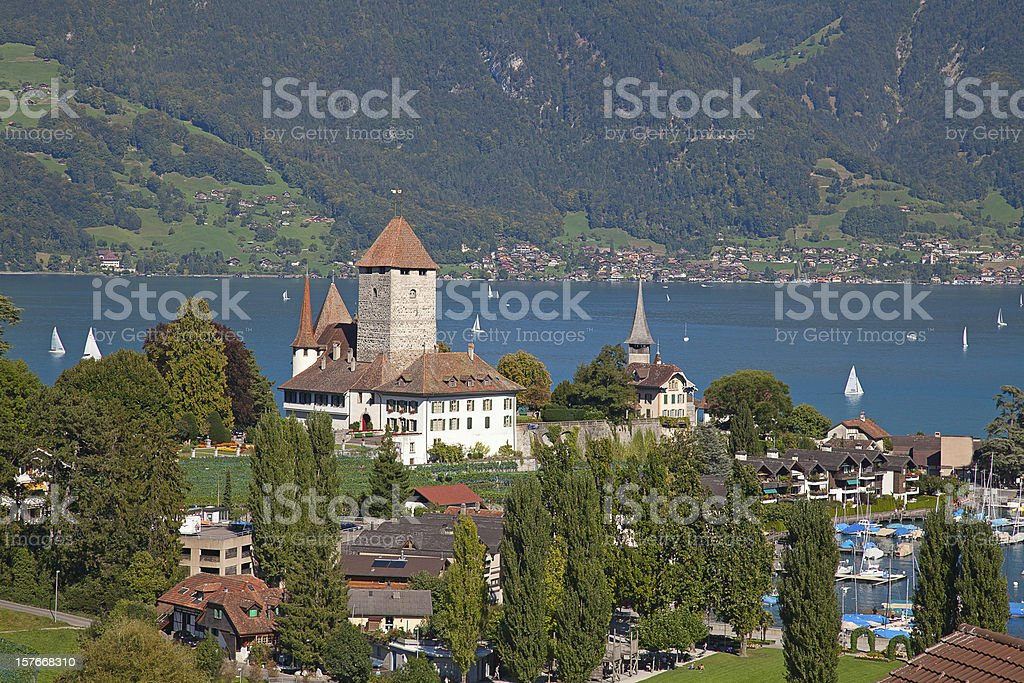 Spiez castle royalty-free stock photo