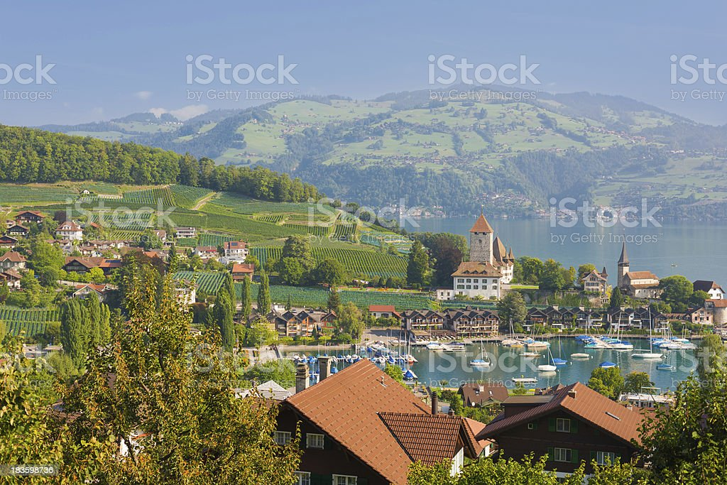 Spiez in a september day royalty-free stock photo