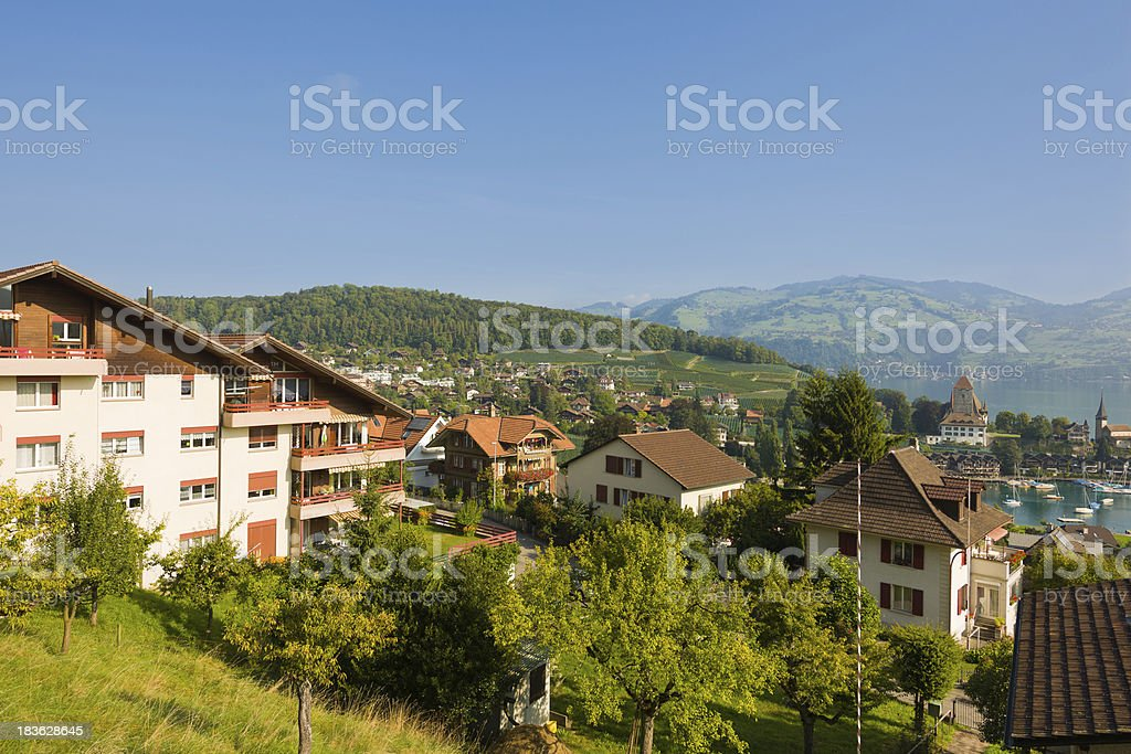 Spiez in a summer day royalty-free stock photo