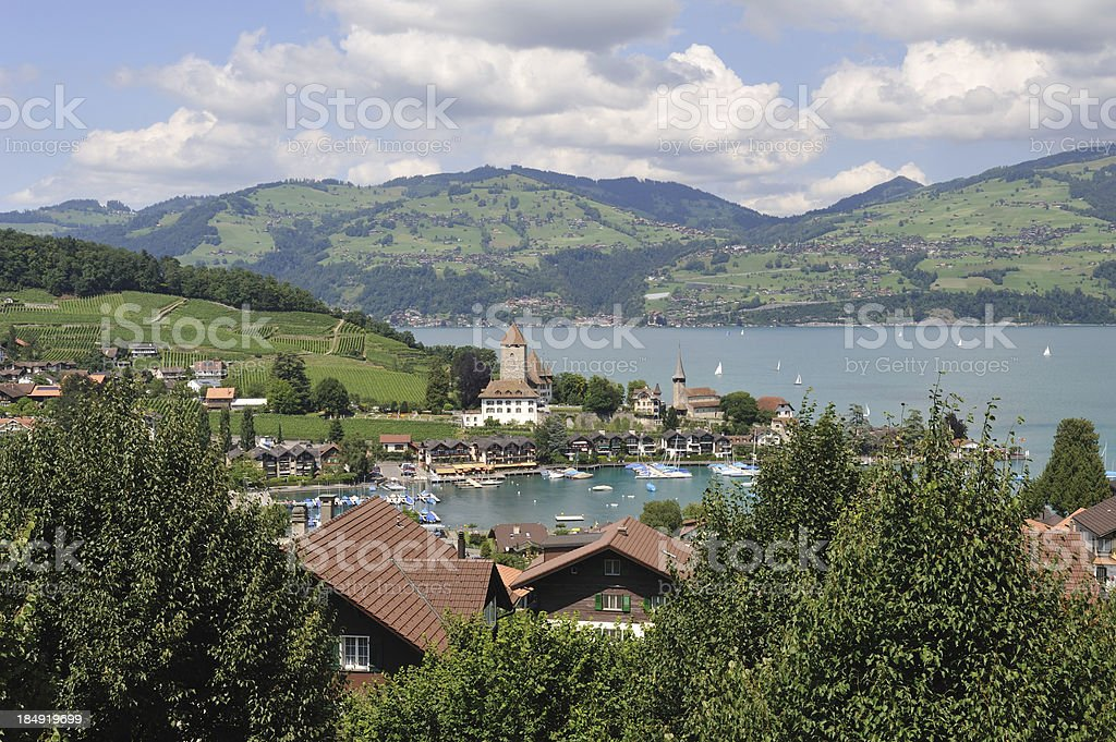 Spiez in Switzerland royalty-free stock photo