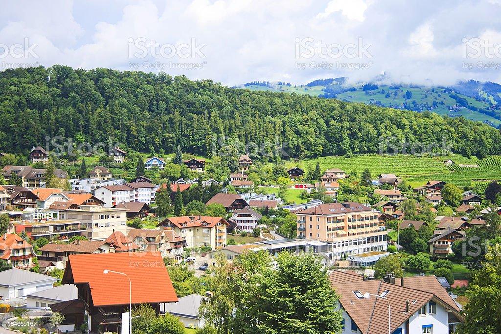 Spiez, Switzerland stock photo