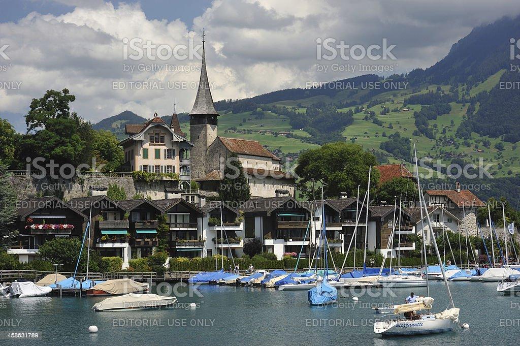 Spiez Waterfront stock photo
