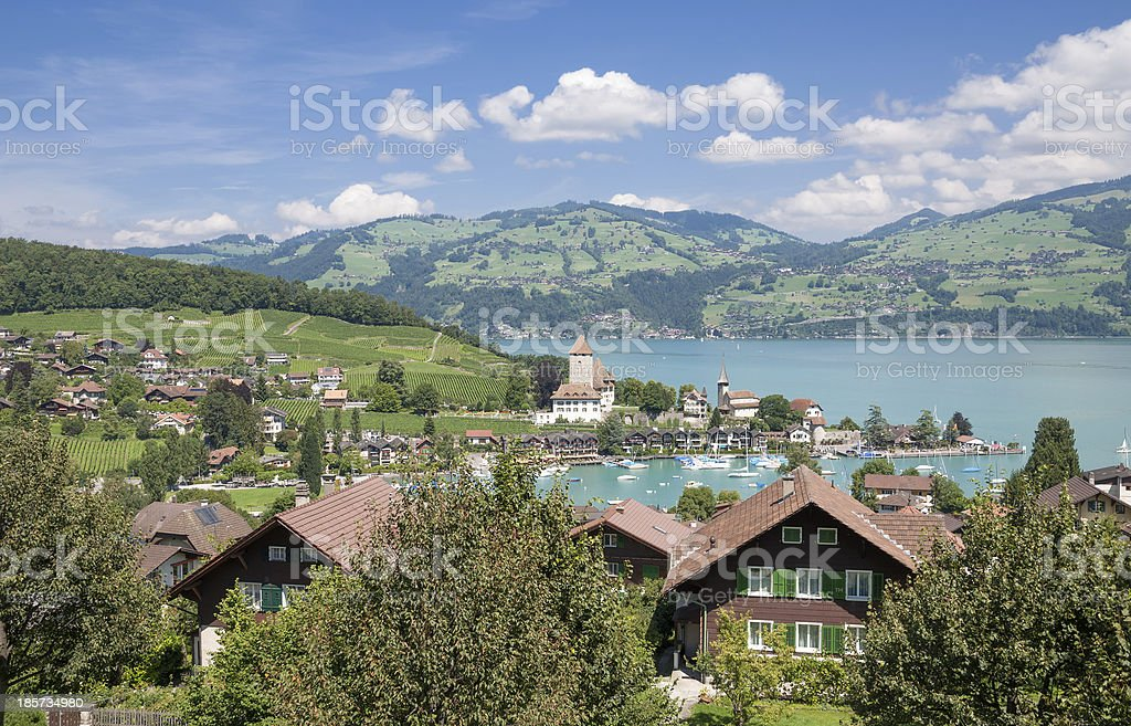 Spiez,Lake Thun,Bernese Oberland,Switzerland royalty-free stock photo