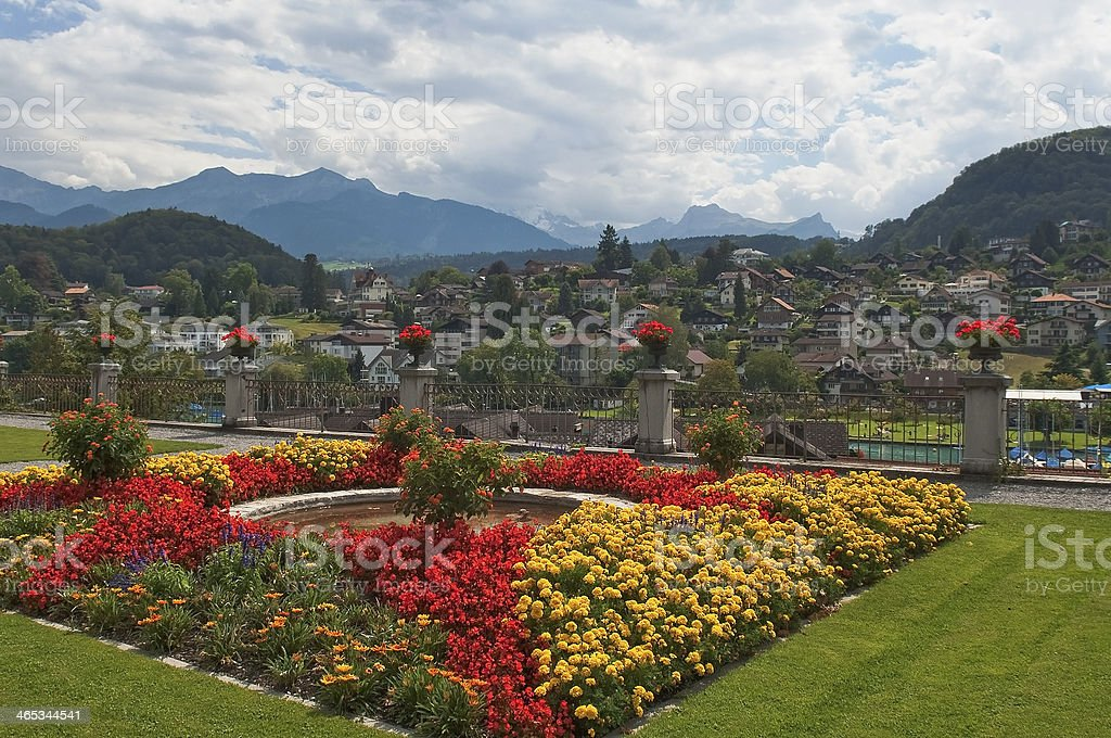 Spiez,views of Lake Thun royalty-free stock photo