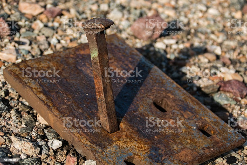 Spike and Plate stock photo