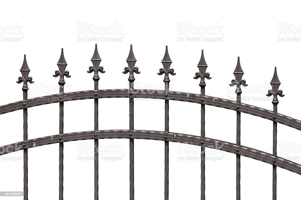 Spike fence stock photo