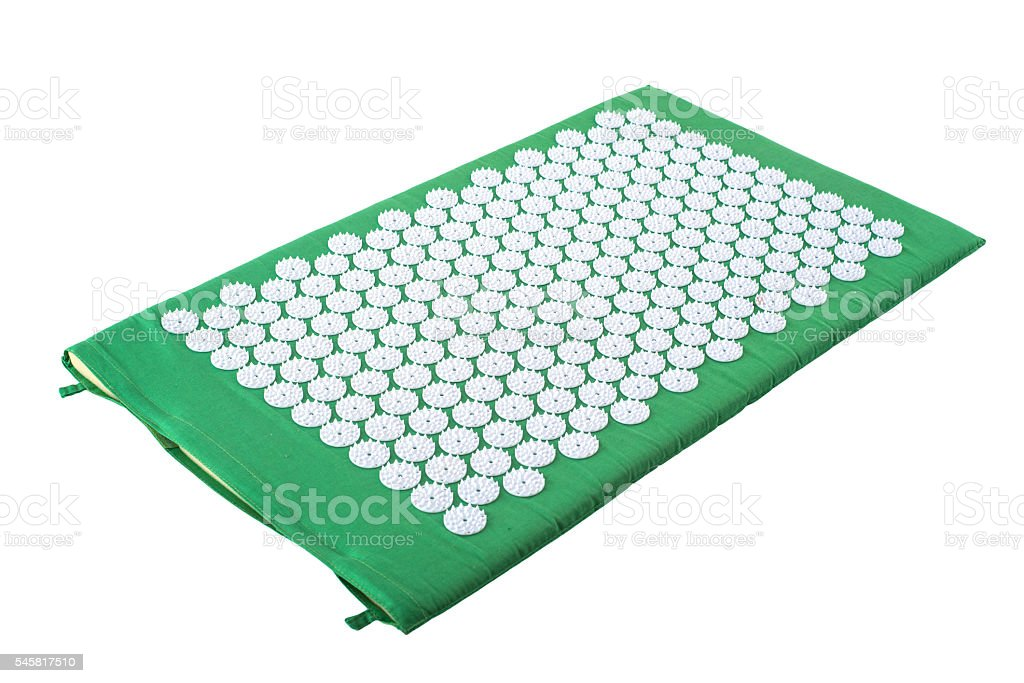 spiked accupuncture mat stock photo