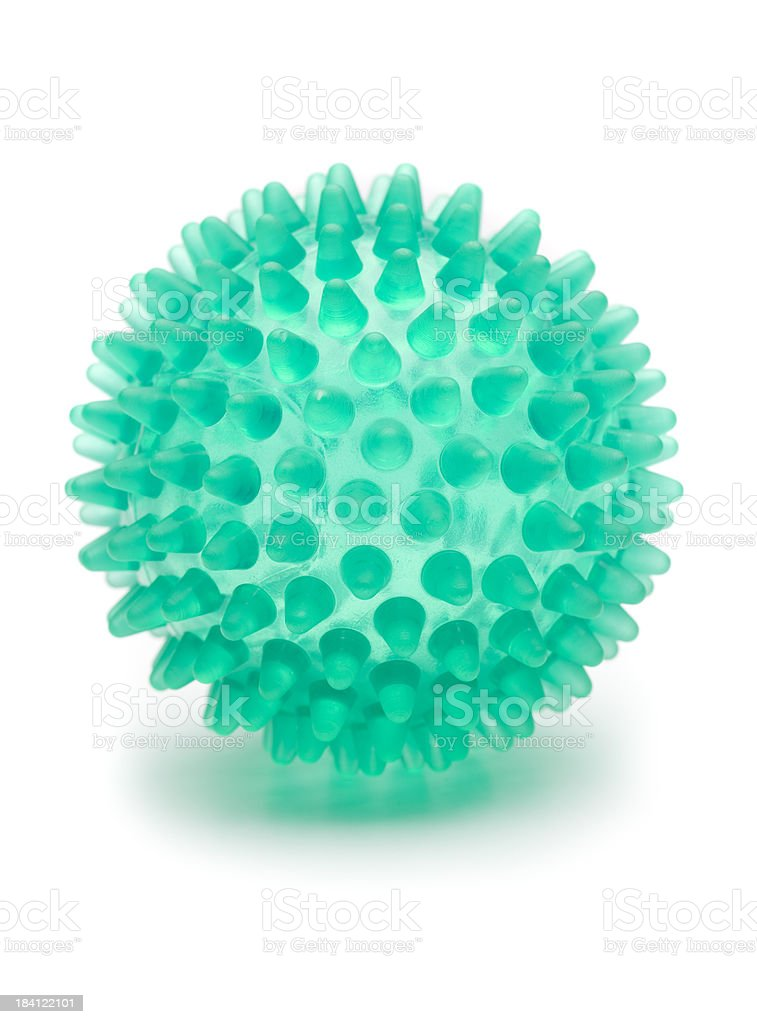 Spiked ball stock photo